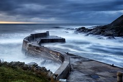 Any Port in a Storm (PeskyMesky) Tags: aberdeenshire collieston colliestonharbour longexposure scotland storm water blue sea ocean 2018 waves canon canon6d eos