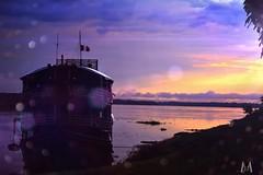 """The Amitista, our Amazonian """" hotel"""" (SuzieAndJim) Tags: chile amitista jungle river amazon color colour purple yellow riverboat boat suzieandjim"""