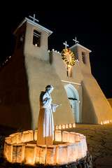 San Francisco de Asis (Natasha's Pix) Tags: christmasinnewmexico christmaslights newmexico sanfranciscodeasismissionchurch taos luminarias nightphotography