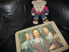 Three heads are better than one! (pefkosmad) Tags: charlesi siranthonyvandyck vandyck kingcharlesiinthreepositions head painting art fineart complete used secondhand jigsaw puzzle falcon vintage oiloncanvas portrait 500pieces king bust theroyalcollection tedricstudmuffin teddy ted bear animal toy cute cuddly fluffy plush soft stuffed