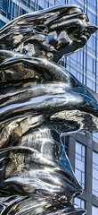 face of a god (pbo31) Tags: bayarea california nikon d810 color december 2018 boury pbo31 sanfrancisco city urban civiccenter panoramic large stitched panorama art depthoffield silver sculpture courtyard venus god plaza missionstreet statue soma