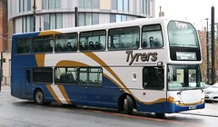 Tyrers Coaches, Adlington YN07EYW with a Rail Replacement service at Manchester Victoria (Gobbiner) Tags: omnidekka 758 tyrerscoaches manchester scania railreplacement yn07eyw eastlancs adlington