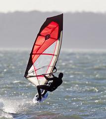 Wind Surfer (Bernie Condon) Tags: wind surf surfing board sal sailing windsurfing windsurf waves water sea hillhead hants uk solent