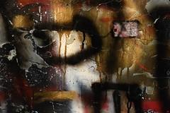 Experiment G (oxipang) Tags: colours spray teint grafity zwaartekracht wal wallpaper essential oxipang experimental gold black red rock rocks grafitti