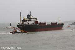 Kuzma Minin - 1 (Kernow Rail Phots) Tags: kuzmaminin russian 16000 ton cargo ship freighter falmouth cornwall kernow 18122018 gales rain heavyseas ap tugs ships boats