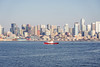 Seattle-Bainbridge Ferry-11 (_futurelandscapes_) Tags: none seattle bainbridgeisland ferry washington transit boat water cityscape skyline autumn sunny bluesky clear bright calm travel vacation city spaceneedle highrise industrial waterfront pier pikeplace