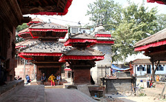 Temple in Durbar Square kathmandu Nepal (Dave Russell (1 million views thanks)) Tags: religion religious holy place temple shrine building architecture durbar square kathmandu nepal nepalese travel tourism canon eos 7d eos7d people