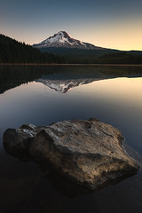 Rock vs Rock (kephart_kyle) Tags: alpine explored glow lake mountains mthood nikon oregon snow sunrise trillium volcano