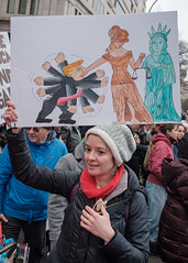 Justice Prevails (ep_jhu) Tags: crowds x100f classicchrome washington feminism drawing rally freedomplaza fujifilm caricature blind scales trump march womensmarch cartoon dc fuji ladyliberty statueofliberty protest signs justice 2019 districtofcolumbia unitedstatesofamerica us