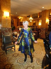 I Hope I Would Have Made My Mother Proud (Laurette Victoria) Tags: laurette woman dress silver boots necklace hotel lobby milwaukee pfisterhotel