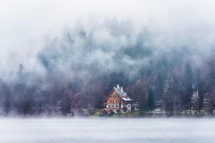 The Wind Will Change (Anna Kwa) Tags: cottage lakebled fog mist cold bled slovenia annakwa nikon d750 7002000mmf28 my here stay wind change always seeing heart soul throughmylens life journey destiny fate andreabocelli helenahellwig labitudine