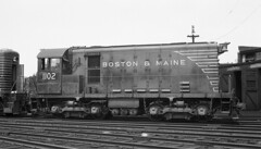 Boston & Maine Alco HH600 #1102 at Lawrence, MA (Houghton's RailImages) Tags: bostonmaine bm alco hh600 diesel locomotive train railroad bw trains locomotives lawrence massachusetts usa