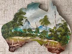 Australian scenes mounted (Lance CASTLE) Tags: australianart gumtrees art oilpainting mounted scene mountains