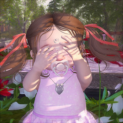 Peekaboo! (daisypea) Tags: flickr spam art daisy crowley secondlife second life sl roleplay toddler child kid children tot td bebe bad seed toddleedoo colour color draw paint crayon photo photography picture rp cute sweet adorable baby little girl daughter sister family look day lotd landscape school create creativity creative sweetpea portrait snap snapshot quick dress up dressup person people play playful adore 2006 flower illustration daydream dream profile