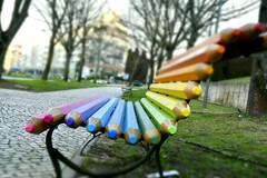 Take a break! (Filipe Lameiras) Tags: takeabreak rest colors pencil seat garden urban