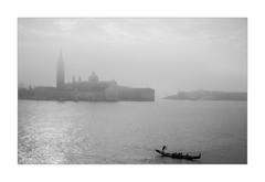 La Gondola Solitaria (W.Utsch) Tags: venice venezia venedig fog bnw leica monochrom gondola sangorgiomaggiore lagoon
