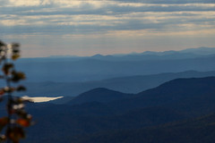 From Sassafras Mountain looking south & west. (DT's Photo Site - Anderson S.C.) Tags: canon 6d 70200mmlis lens upstate sassafras mountain southcarolina pickenssc fall foliage autumn scenic landscape november rural color blue clouds south west lake horizon view america southern usa
