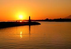 - Siluetas - (camus agp) Tags: puestadesol puerto mar mediterraneo faro calma marbella españa lighthouse sunset