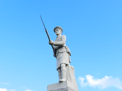 Kilted Soldier, Forse, Latheron and Latheronwheel War Memorial, Caithness, Aug 2018 (allanmaciver) Tags: forse latheron latheronwheel caithness sutherland east coast granite soldier ready action rifle 1914 1919 1939 1945 heroes world war nation remember allanmaciver