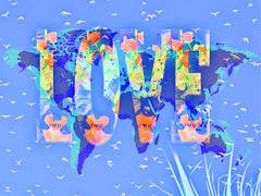 Spread the Love Throughout the World (soniaadammurray - On & Off) Tags: digitalphotography manipulated experimental collage abstract love global quotes vincentvangogh paulocoelho fyodordostoyevsky artistic explain show animals plants divinemystery comprehend better wholeworld allembracing world birds hearts nature peace artchallenge