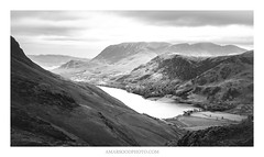 Buttermere Valley (from Haystacks) (Amar Sood) Tags: amarsoodphotocom amarsoodphotography landscape landscapes nikkor 247028 sony a7rii thelakedistrict lakedistrict blackandwhite whiteandblack mono monochrome nationalpark nature
