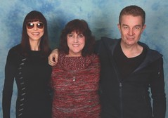 with Juliet and James (JeanbugC) Tags: vampireball buffythevampireslayer jamesmarsters julietlandau andrewferchland markmetcalf tomlenk photoops