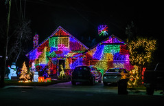 not to be outdone (pbo31) Tags: bayarea california nikon d810 night dark black city color urban december 2018 boury pbo31 holidays christmas season tree lights house livermore eastbay alamedacounty decorate colorful