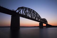 missouri river crossing (eb78) Tags: chamberlain southdakota sd bridge railroad missouririver longexposure explore