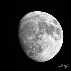 Waxing Gibbous Moon (dcstep) Tags: a7r5693dxo sonya7riii fe400mmf28gmoss fe20xteleconverter moon lunar luna waxinggibbousmoon cherrycreekstatepark colorado usa aurora allrightsreserved copyright2018davidcstephens dxophotolab2 nature urban urbannature pixelpeeper