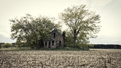 Sorrows sown (Wicked Dark Photography) Tags: landscape luminar wisconsin abandoned autumn bleak decay derelict fall rural