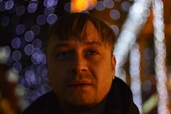_DSC5095 (Aris_Totel) Tags: light lights shing blinke man male smoke city bokeh bulb
