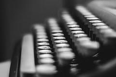Typewriter (kisicekpatrik) Tags: typewriter letter words buttons keys blackandwhite black white blackwhite retro old vintage bokeh closeup photography antique blurry