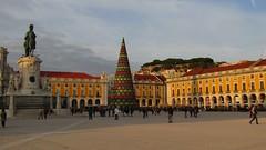 Praca de Comercio Lisboa (lualba) Tags: lisboa lissabon lisbon portugal pracadecomercio abend evening christmasdecoration weihnachtsschmuck