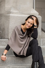 beeandonkey_narzutka_khaki_szara (beeanddonkey) Tags: beeanddonkey bee donkey sweter sweater knitted knitwear madeinpoland tarnowskie góry silesia moda fashion dzianina