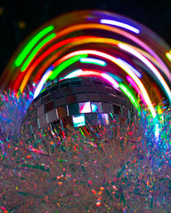 Rainbow Disco 1 (PunKittt) Tags: light lightpainting rainbow colors neon longexposure party lowlight nikon d3400