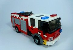 Type 3 Medium Pumper (1) (Lonnie.96) Tags: lego brick red yellow blue white black grey gray wheel blade truck helicopter 2018 december light h135 eurocopter lifesaver 30 lifesaver30 type 3 medium pumper highton queenscliff moc creation custom cfa country fire authority lsv life saving victoria westpac rescue new replacement old transfer winch brickvention 2019 ladder rotor window door front back side australia stripe checker orange gren tail closed exhaust