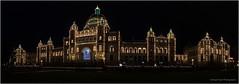 A Parliamentary Christmas (westcoastcaptures) Tags: britishcolumbia parliament night lights christmas uwa panoramic sal2470z