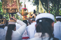 BALI, INDONESIA - JULY 4, 2018: Group of people on a balinese village ceremony. (Artem Bali) Tags: culture traditional hindu people asian travel beautiful island bright girls backgrounds decorated bali indonesia balinese religion editorial hinduism ceremony asia indonesian festival religious ritual art ubud decoration offering tradition sacred day praying sarong holy holiday spiritual temple nyepi oriental dress basket food ethnic prayer faith woman sculpture red colorful gift