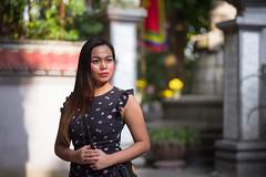 Portrait at Le Thai To Monument (phil.w) Tags: pentax k1 fa77 77mm limited lens portrait young woman beautiful monument bokeh hoan kiem hanoi vietnam