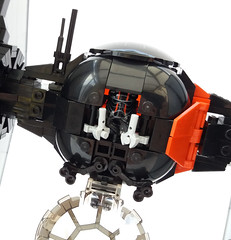 Pilot seat (tight squeeze) (Rubblemaker) Tags: star wars starwars lego building blocks first order tie fighter