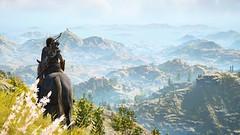 Seeking Adventure (nicksoptima) Tags: landscape mountains horse ps4 ubisoft assassins creed odyssey screenshot