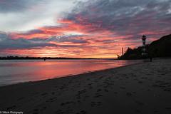 Sunset #1 (vmonk65) Tags: elbe fluss himmel leuchtturm nikon nikond810 river sky sonnenuntergang wasser wittenbergen wolkem clouds water