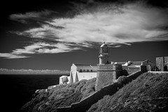 Sagres Lighthouse (alanrharris53) Tags: sagres algarve portugal lighthouse ir infrared sky sea
