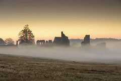 Ruins in the Mist (John__Hull) Tags: sunrise mist bradgate house ruins park leicestershire charnwood forest newtown linford england uk landscape misty morning trees nikon d7200