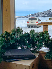 2005 Toyota Land Cruiser (100-series) (cjcam) Tags: winter 100series idaho stanleylodge vacation ketchum holiday snow snowmobiling landcruiser travel sawtoothmountains familytruckster scenery uzj100 roadtrip sunvalley stanley ice unitedstates us
