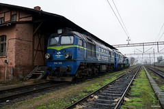 ST44-1219 (PM's photography) Tags: pkp cargo diesel loco locomotive train trainspotting rail railroad railway station freight poland lubuskie czerwiensk sony a6000 st44 st441219 gagarin m62