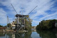Fishing net 蜘蛛手網 (yukky89_yamashita) Tags: 福岡 柳川市 蜘蛛手網 水郷 水濠 water fishing net fukuoka yanagawa japan canal moat