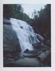 (ChazboTheThird) Tags: shot polaroid land 250 with fuji fp100c film fp 100c c instant peel apart waterfall waterfalls water fall falls north carolina nc rainbow gorges state park