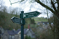 Hmm, which way? (Blue Sky Pix) Tags: nationaltrust signpost dovedale village milldale peakdistrict nationalpark derbyshire walking keepingfit january busy healthy england pentax