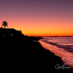 Golden Hour (Thüncher Photography) Tags: fujifilm fuji gfx50s fujigfx50s gf3264mmf4rlmwr mediumformat scenic landscape waterscape oceanscape beach tropical sunrise colors reflections silhouettes shadows ftmyers florida southwestflorida gulfcoast landscapephotography fineartphotography